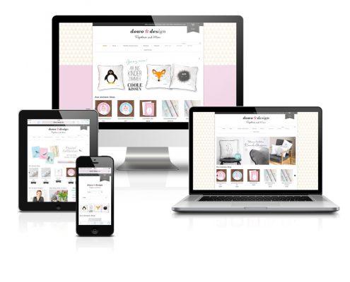 Portfolio down design Webshop